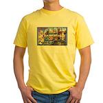 Bangor Maine Greetings (Front) Yellow T-Shirt