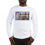 Bangor Maine Greetings (Front) Long Sleeve T-Shirt