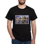 Bangor Maine Greetings (Front) Dark T-Shirt