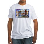 Bangor Maine Greetings (Front) Fitted T-Shirt