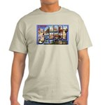 Bangor Maine Greetings (Front) Ash Grey T-Shirt