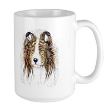 Sheltie Head Study Mug