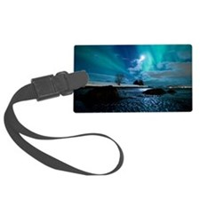Aurora Borealis over Troms Large Luggage Tag