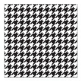 "Houndstooth Square Car Magnet 3"" x 3"""