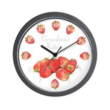 Grandma's Kitchen Strawberry Wall Clock