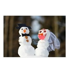 Winter wedding Postcards (Package of 8)