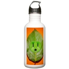 Green plant leaf with  Water Bottle