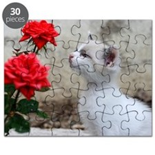 Kitten and flowers Puzzle