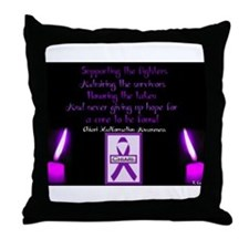 Chiari/Syringomyelia Awareness Throw Pillow