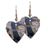 Elevated scenic view of minato Earring Heart Charm