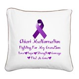 fighting For My Grandson Square Canvas Pillow