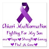 "Fighting For My Son Square Car Magnet 3"" x 3"""