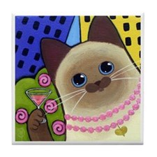 Siamese CAT City Kitty Tile/Coaster