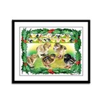 Chicks For Christmas! Framed Panel Print