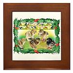 Chicks For Christmas! Framed Tile