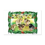 Chicks For Christmas! Mini Poster Print