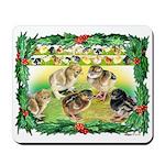 Chicks For Christmas! Mousepad