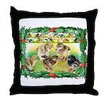 Chicks For Christmas! Throw Pillow