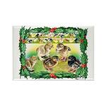 Chicks For Christmas! Rectangle Magnet (100 pack)