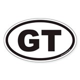 GT Euro Oval Decal