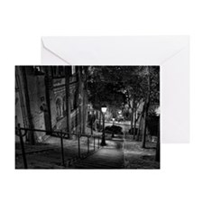 Montmartre stairs Greeting Card