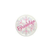 Brooklyn Snowflake Personalized Mini Button (100 p