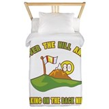 Golfing Humor For 80th Birthday Twin Duvet