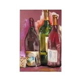 Wine Bottles Rectangle Magnet