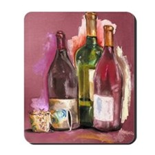 Wine Bottles Mousepad