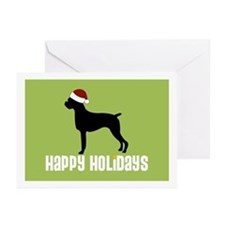 "Boxer ""Santa Hat"" Greeting Cards (Pk of 10)"