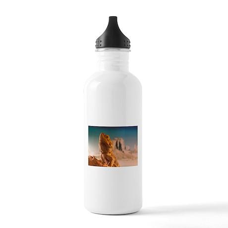 Monkey is a bearded dragon Water Bottle