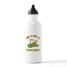 Golfing Humor For 70th Birthday Water Bottle