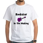Rockstar In The Making White T-Shirt
