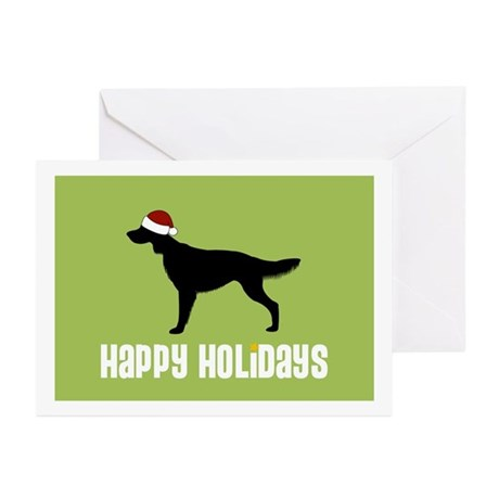 "Irish Setter ""Santa Hat"" Greeting Cards (Package o"
