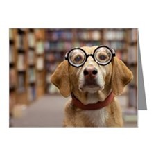 Librarian dog Note Cards (Pk of 10)