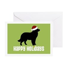 "Newfoundland ""Santa Hat"" Greeting Cards (Package o"