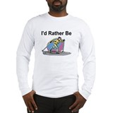 Rather Be Cross Country Skiing Long Sleeve T-Shirt