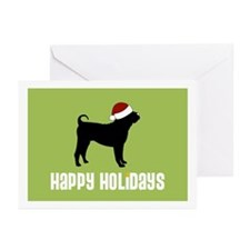 "Shar Pei ""Santa Hat"" Greeting Cards (Pk of 10)"