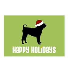 "Shar Pei ""Santa Hat"" Postcards (Package of 8)"