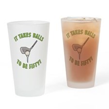 50th Birthday Golfing Gag Drinking Glass