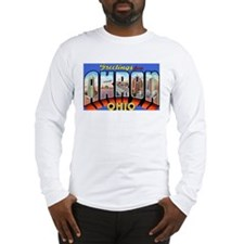 Akron Ohio Greetings (Front) Long Sleeve T-Shirt