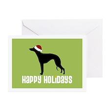 "Whippet ""Santa Hat"" Greeting Cards (Pk of 10)"