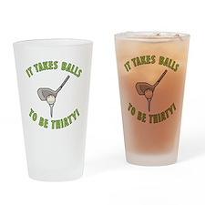 30th Birthday Golfing Gag Drinking Glass
