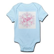 Cate Snowflake Personalized Infant Bodysuit