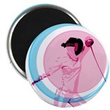"Pink Fencer 2.25"" Magnet (100 pack)"