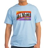 Atlanta Georgia Greetings (Front) Ash Grey T-Shirt