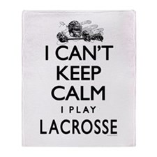 Can't Keep Calm LaX Throw Blanket