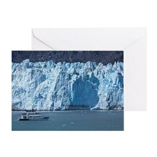 Tour boat at Margerie Glacier in Gla Greeting Card