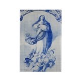 traditional azulejos ceramic tile Rectangle Magnet