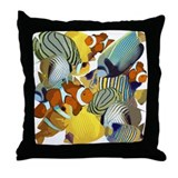 Fish Party Throw Pillow
